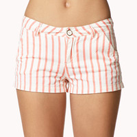 Bold Vertical Stripe Denim Shorts | FOREVER 21 - 2040033890