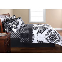 Walmart: Mainstays Classic Noir Bed in a Bag Bedding Set