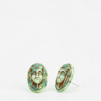 Diament Jewelry For Urban Renewal Face Stud Earring