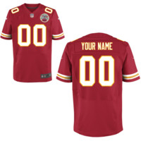 Men's Nike Kansas City Chiefs Customized Elite Team Color Jersey on Promotion - Online Coupons Discount For Cheap