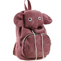 ZLCY Super Cute Canvas Elephant Backpack