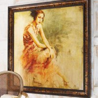 "Rosenbaum Fine Art - ""Woman in Contemplation"" Giclee - Horchow"