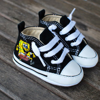 Sponge Bob Square Pants themed hand painted shoes