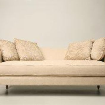 Sofa in Neutral Fabric with Pilows