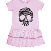 SALE/ 4T Pink Skull Toddler Ruffle Dress