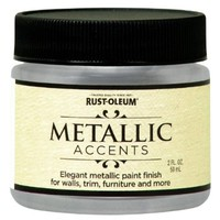 Rust-Oleum Metallic Accents 255269 Decorative 2-Ounce Trail Size Water Based One Part Metallic Finish Paint, Sterling Silver:Amazon:Home Improvement