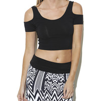 Cold Shoulder Crop Top | Shop Tops at Arden B
