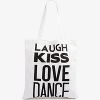 Laugh Kiss Love Dance Tote