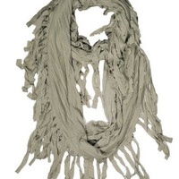 Fennco Fringed Infinity Loop Scarf for Men or Women - 6 Colors