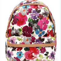 Flora Print Backpack HDG854 from topsales