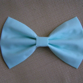 Sky Blue Bow, Bows for girls, Hair bows for teens, Bows for women, Fabric Bows, Bow Bows