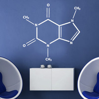 Caffeine Molecule Wall Decal - Stylish Chemical Formula for Coffee Fans