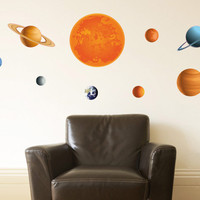 Planetary System Wall Sticker Set - Great Art for your Walls