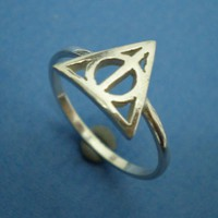 Deathly Hallows Triangle Harry Potter Ring