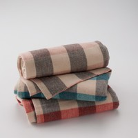 Vintage Wool Checked Throw Blanket | Schoolhouse Electric & Supply Co.
