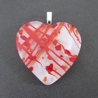 Glass Heart Pendant - Truelove - 3810 - $30.00 - Handmade Jewelry, Crafts and Unique Gifts by MySassyGlass