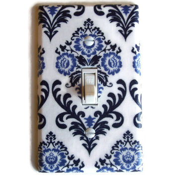 Provincial Damask Floral Single Toggle Switch Plate, switchplate decor