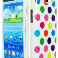 Bastex Soft Gel TPU Colorful Polka Dot Flex Tpu Case Cover for Samsung Galaxy S3 I9300, I747:Amazon:Cell Phones & Accessories