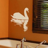 Vinyl Wall Art Decal Swan----Wall Art Home Decor Vinyl Decal Sticker