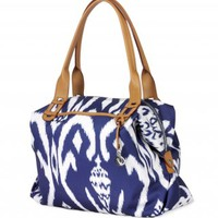 Navy Blue Ikat Tote Bag & Carryall Satchel | How Does She Do It Tote | Stella & Dot