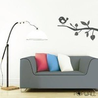 Vinyl Wall Decal  Sticker Art  Cute Bird on Tree  001 by NouWall