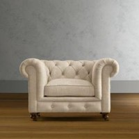 Kensington Upholstered Chair & Ottoman | Chairs | Restoration Hardware