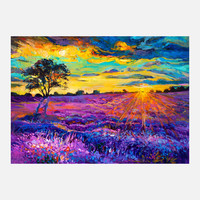 Ivailo Nikolov: Lavender Field Print, at 47% off!