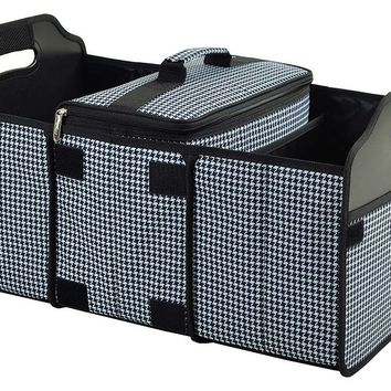 One Kings Lane - Road Trip! - Trunk Organizer & Cooler, Houndstooth