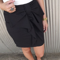 Classic Bow Skirt - Black | The Rage
