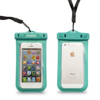 DandyCase Turquoise SLIM Waterproof Case for Apple iPhone 5 & Apple iPod Touch 5 (Will NOT fit other smartphones) - IPX8 Certified to 100 Feet [Retail Packaging by DandyCase]