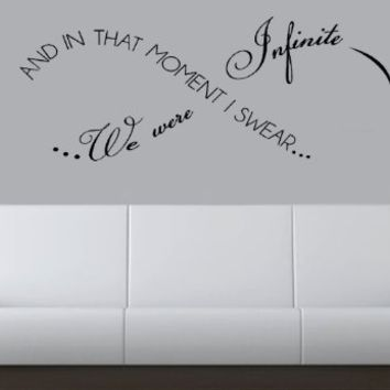 """In That Moment I Swear We Were Infinite 24""""-Home Decor-Wall Art"""