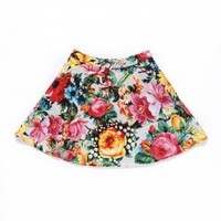 SUNRISE BLOSSOM CIRCLE SKIRT / GRAY