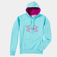Women's Armour Fleece Storm Embroidery Big Logo Hoodie | 1240258 | Under Armour US