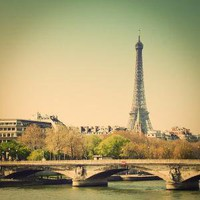 The River Seine and Eiffel Tower Paris France  by cooperativ