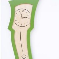 clock no3 apple green by dustfurniture on Etsy