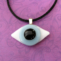 Eyeball Necklace, Handmade Necklace, Etsy Fashion Jewelry - Blue Eyed Beauty - 794 -1