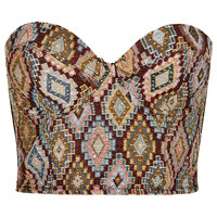 Geometric Tapestry Corset - Going Out - Clothing - Topshop USA