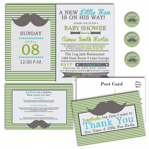 mustache bash baby shower invitations from baby