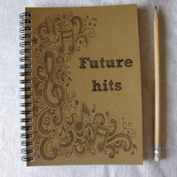 Future Hits - 5 x 7 journal