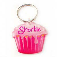Pink Cupcake Pet Id Tag - Happy Tags