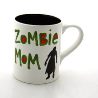 Mom Mother&#x27;s Day Mug Zombie Mom Funny Mug by LennyMud on Etsy
