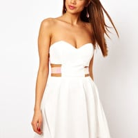 Paprika | Paprika Chiffon Skater Dress with Sequin Straps at ASOS