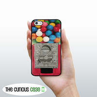 iPhone 4S Case Candy Gumball Machine  / Hard Case For iPhone 4 and iPhone 4S Kawaii Candy Goodies  Rubber Trim