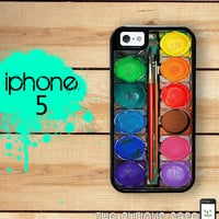iPhone 5 Mighty Case - Watercolor Paint Set - 2 Part Protective iPhone 5 Case