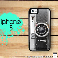 iPhone 5 Mighty Case -  2 Part Protective iPhone 5 Case - Black Retro Camera Vintage Photographer