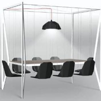 Dynamic Dinner Table Features Fun Swing-Set-Style Seating | Designs & Ideas on Dornob
