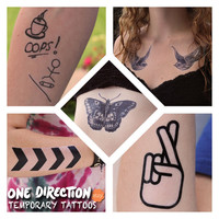 One Direction Inspired Temporary Tattoos