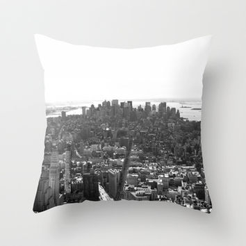 NYC Throw Pillow by Astronutlab