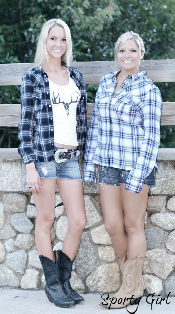 country girl deer head flannel shirts from sporty girl apparel