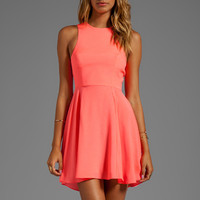Naven EXCLUSIVE Jackie Circle Skirt Dress in Neon Coral from REVOLVEclothing.com